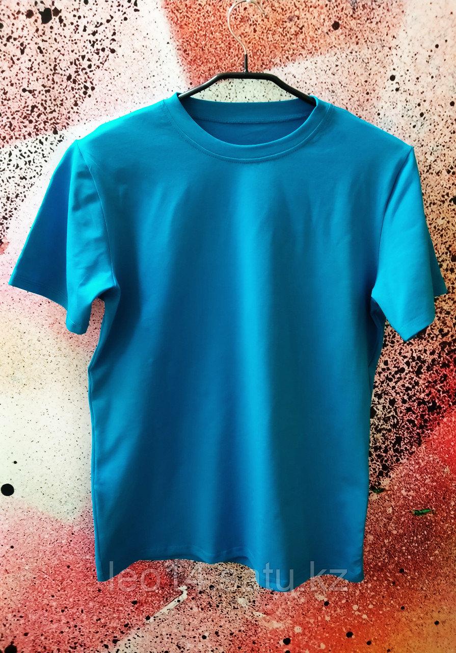 """Футболка Х/Б """"Unisex"""", ткань Турция, цвет: Бирюза, р-р 52(XL)"""