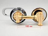 Смеситель для душевой кабины 100 мм х 2 выхода, резьба 1/2, фото 3