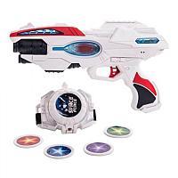 Набор бластер часы звук свет Fun Red FRBL007