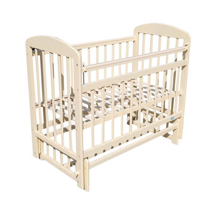 МОЙ МАЛЫШ Кровать детская 09 маятник универсальный с накладкой Слоновая.кость
