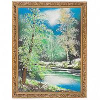 """Картина """"Весенний пейзаж"""" багет 36х46 см, каменная крошка"""