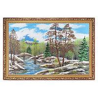 """Картина """"Весенний пейзаж"""" багет 46х66 см, каменная крошка"""