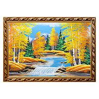 """Картина """"Осенний пейзаж"""" багет 56х76 см, каменная крошка"""