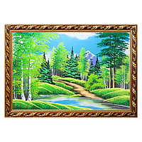 """Картина """"Летний пейзаж"""" багет 56х76 см, каменная крошка"""