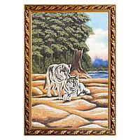 "Картина ""Волки"" багет 46х66 см, каменная крошка"