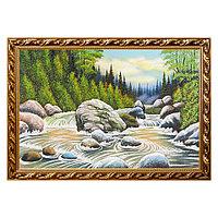 """Картина """"Горная река"""" багет 46х66 см, каменная крошка"""