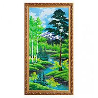 """Картина """"Летний пейзаж"""" багет №7 40х80 см, каменная крошка"""