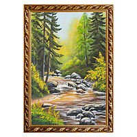 """Картина """"Горный ручей"""" багет 46х66 см, каменная крошка"""