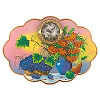 "Часы с картиной ""Натюрморт"" 66х48 см каменная крошка"