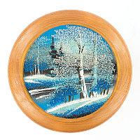 "Тарелка декоративная ""Зима"" 15 см каменная крошка"