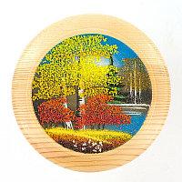 """Тарелка декоративная """"Осень"""" 15 см каменная крошка"""