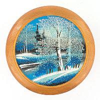 "Тарелка декоративная ""Зима"" 20 см каменная крошка"