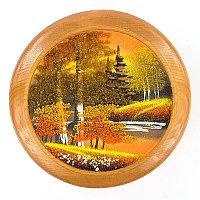 """Тарелка декоративная """"Осень золотая"""" 20 см каменная крошка"""