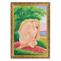 """Картина с каменной крошкой """"У реки"""" багет №5 (35х50 см) SO-73430"""