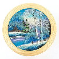 "Тарелка декоративная ""Зима"" 25 см каменная крошка"