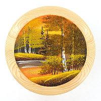 """Тарелка декоративная """"Осень золотая"""" 25 см каменная крошка"""