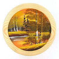 """Тарелка декоративная """"Осень золотая"""" 30 см каменная крошка"""