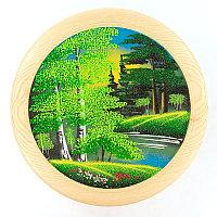 "Тарелка декоративная ""Лето"" 30 см каменная крошка"