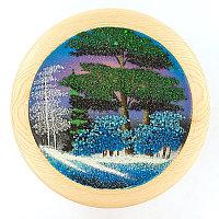 "Тарелка декоративная ""Зима"" 30 см каменная крошка"