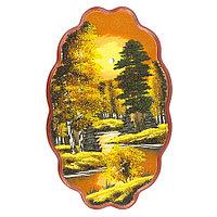 "Панно с рисунком из камня ""Осенняя ночь"" 45х29 см"