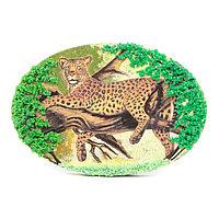 """Панно из камня на подставке """"Леопард"""""""