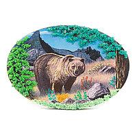 """Картина из камня на подставке """"Медведь в горах"""""""