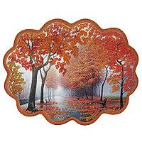 """Панно с рисунком из камня """"Осенний парк"""" 34х26 см"""