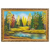 """Картина """"Осенний пейзаж"""" багет 40х60см, каменная крошка"""