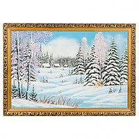 "Картина ""Зима"" багет 40х60 см, каменная крошка"