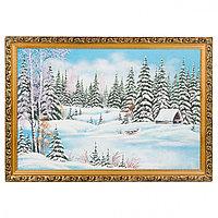 """Картина """"Зимний лес"""" багет 40х60 см, каменная крошка"""