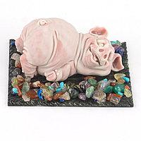 """Сувенир из мрамолита """"Свин лежит"""""""