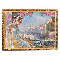 """Картина с каменной крошкой """"Венецианский мотив"""" багет 58х78 см ВВ1"""
