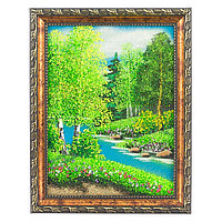 "Картина ""Летний пейзаж"" рамка багет 15х20 см, каменная крошка"