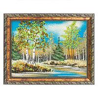 """Картина """"Весенний пейзаж"""" рамка багет 15х20 см, каменная крошка"""