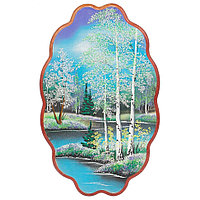 "Панно с рисунком из камня ""Весна"" 45х29 см"