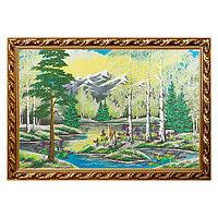 """Картина """"Весенний пейзаж"""" багет №9 60х90 см, каменная крошка"""