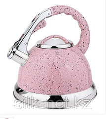 Чайник нерж 3,5 л со свистком розовый