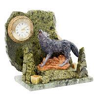 """Часы """"Волк"""" из змеевика"""