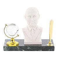 "Подставка под ручку ""Бюст Путина"" змеевик мрамолит"