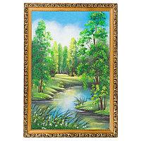 "Картина ""Летний пейзаж"" багет дерево гипс 46х66 см, каменная крошка"
