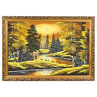 """Картина """"Осенняя ночь"""" багет дерево 46х66 см, каменная крошка"""