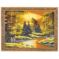 "Картина ""Осенняя ночь"" багет 36х46 см, каменная крошка"