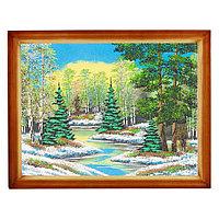 """Картина """"Весенний пейзаж"""" багет дерево 36х46 см, каменная крошка"""