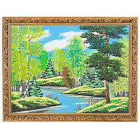 """Картина """"Летний пейзаж"""" багет 36х46 см, каменная крошка"""