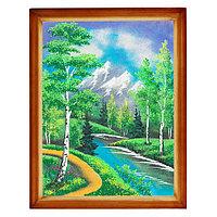 """Картина """"Летний пейзаж"""" багет дерево 36х46 см, каменная крошка"""