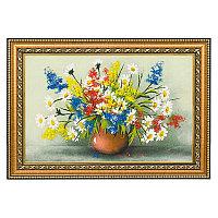"""Картина из каменной крошки """"Полевые цветы"""" багет 24х34 см"""