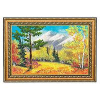 """Картина """"Осенний пейзаж"""" багет 24х34 см, каменная крошка"""