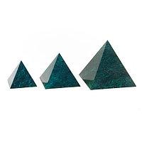 Пирамида 5х5 см камень змеевик