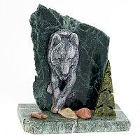 "Сувенир ""Волк"" камень змеевик"