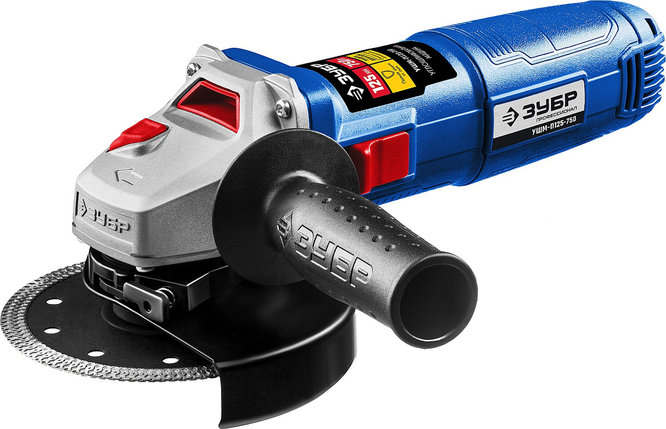 Углошлифовальная машина (болгарка) ЗУБР 750 Вт, 125 мм, одноручный хват (УШМ-П125-750), фото 2